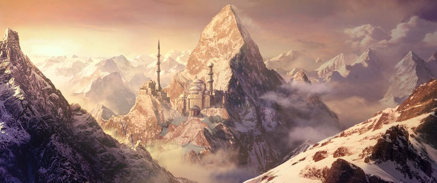 Fantasy matte painting   snow by marta nael