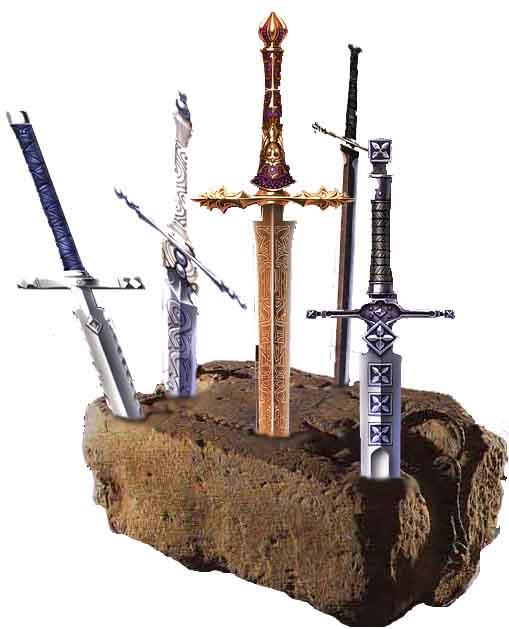 Espadas en la piedra