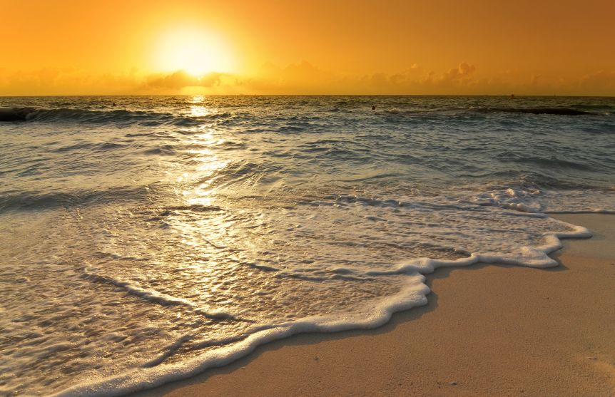 Bright ocean