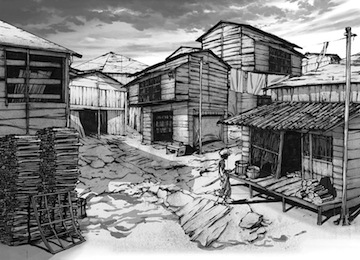As illust shanty town