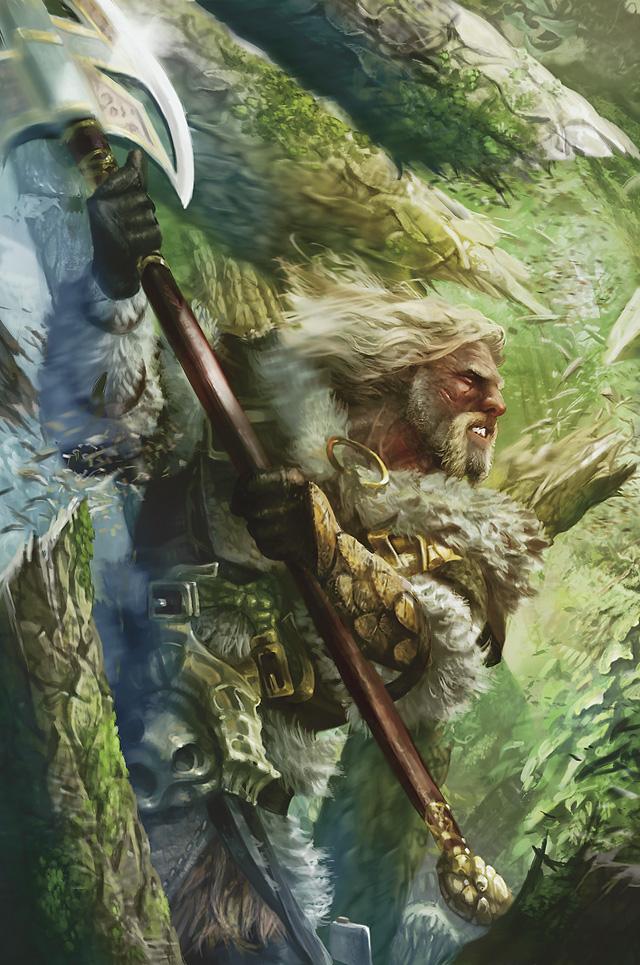 Garwulf, Norn Skald