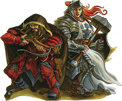 Dwarves-- male rogue, female paladin of Ghorn