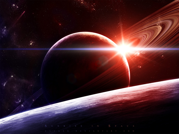 28 20 sunrise in space
