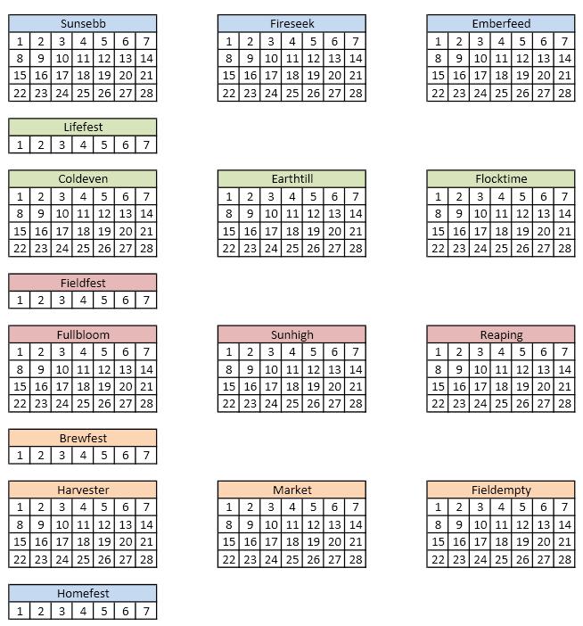 Counterpart calendar