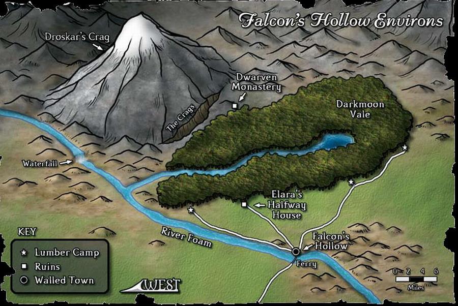 Falcon s hollow environs