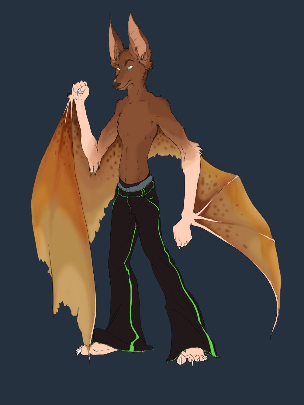 Bat dog thingy    by chibi marrow
