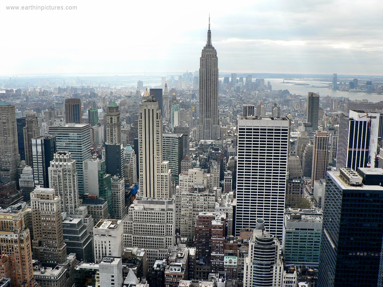 New york skyline   view from the rockefeller center 1280x960