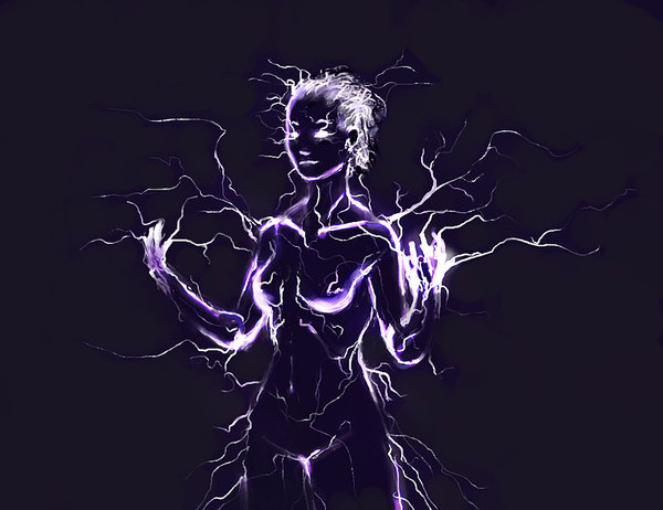 Lightning elemental by vij 8