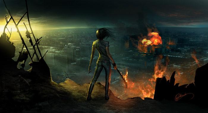 Burned city 2