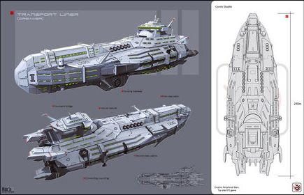 Endymion Class Translunar Cruise Ship Star Sphere