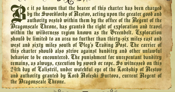 Initial charter