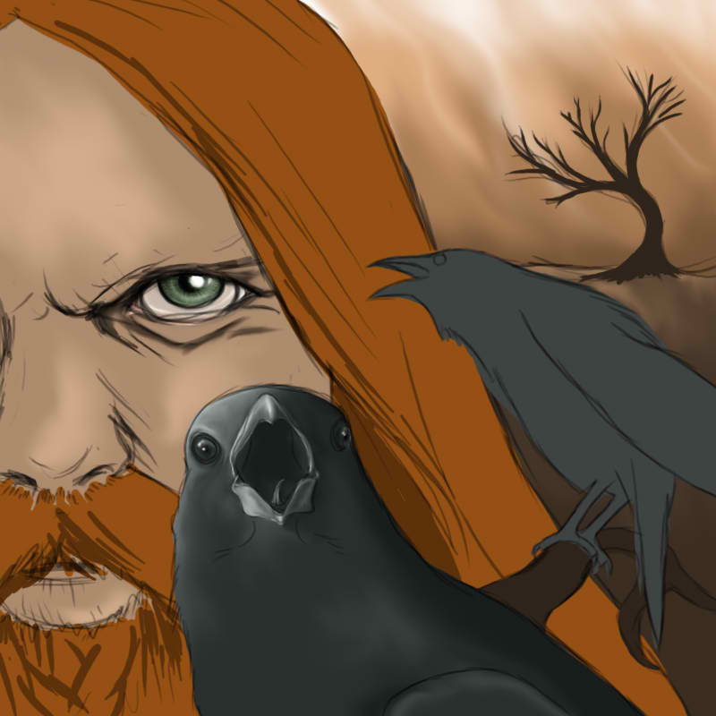 Odin  hugin and munin wip by kraaku d2xzew5