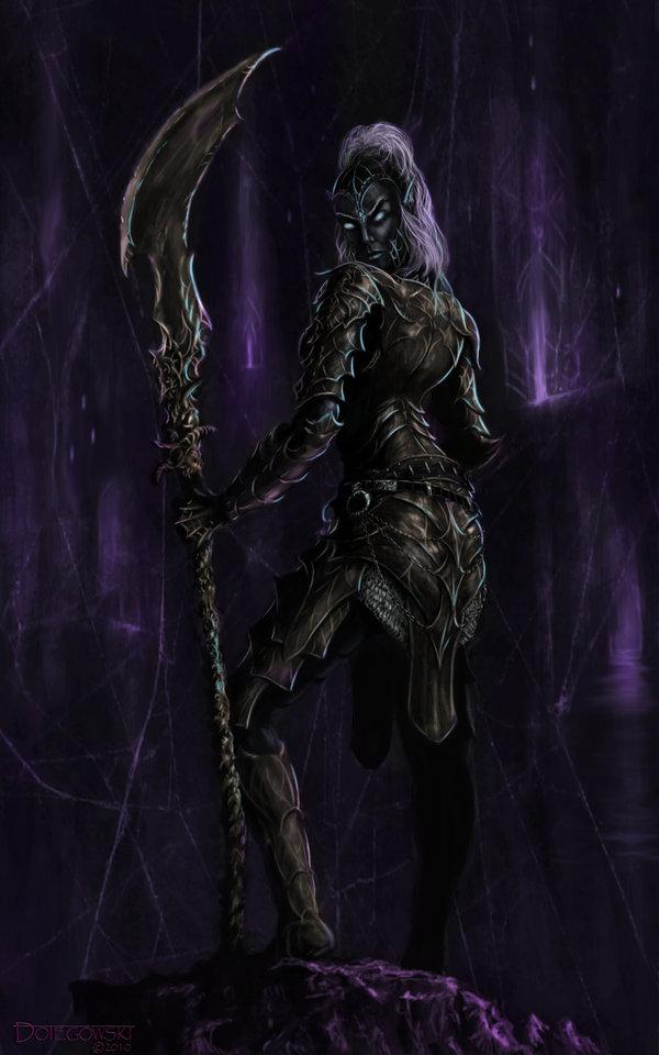 Female dark elf by blizzard67 on deviantart