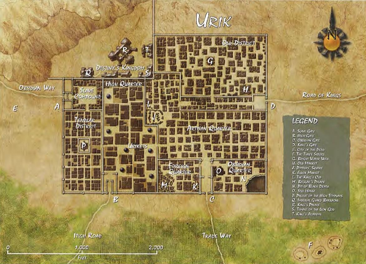 Urik map