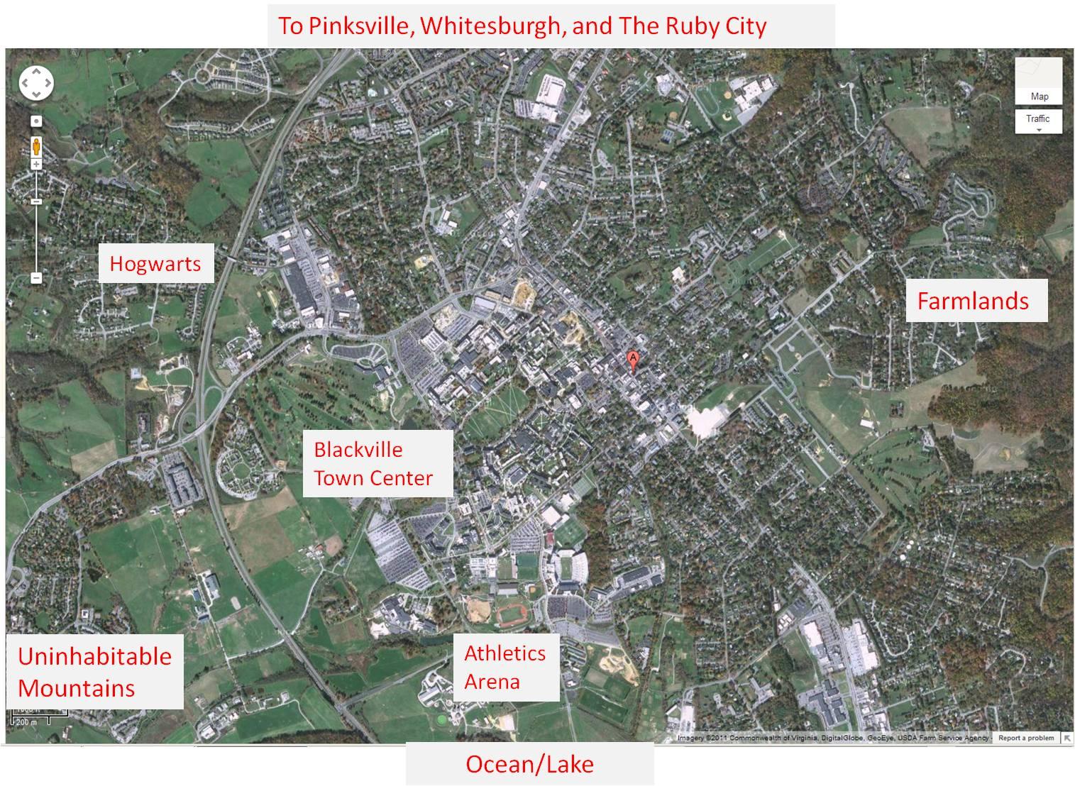 Blackville general map
