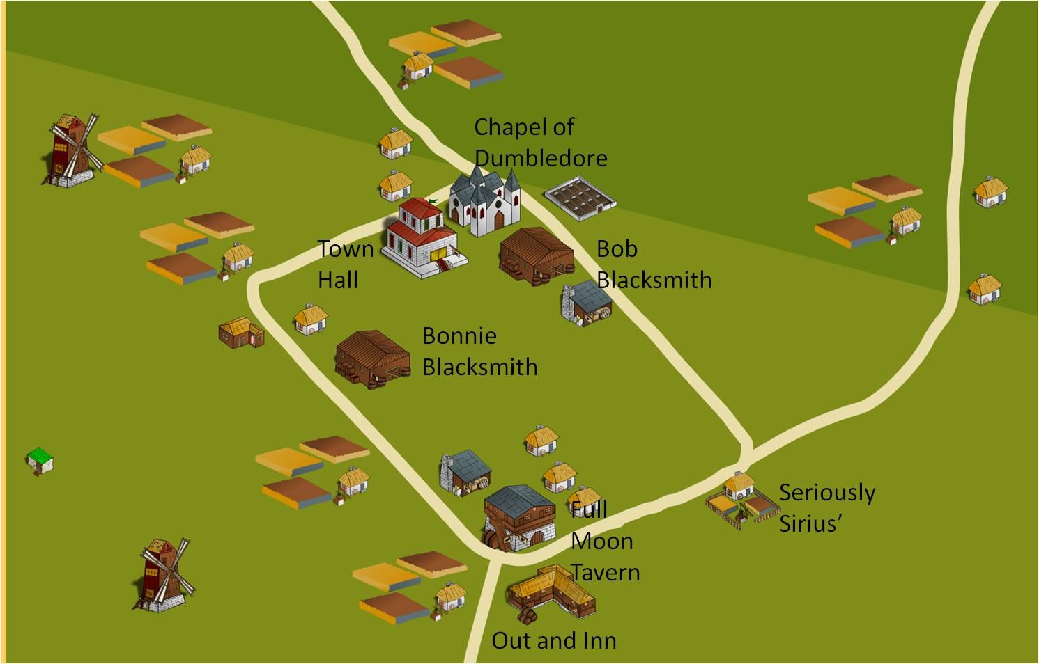 Blackville town center key places