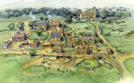 Kelmarsh medieval village