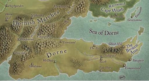 maps of dorne game of thrones rq obsidian portal. Black Bedroom Furniture Sets. Home Design Ideas