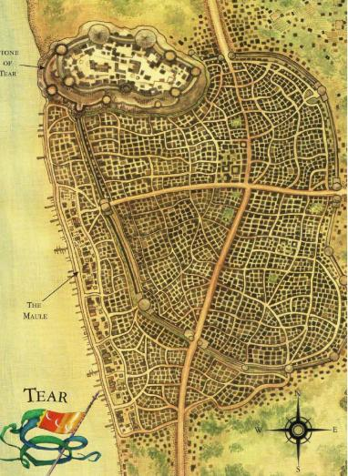 Map of city of tear