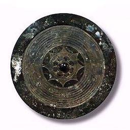 représentation du bouclier miroir de bronze