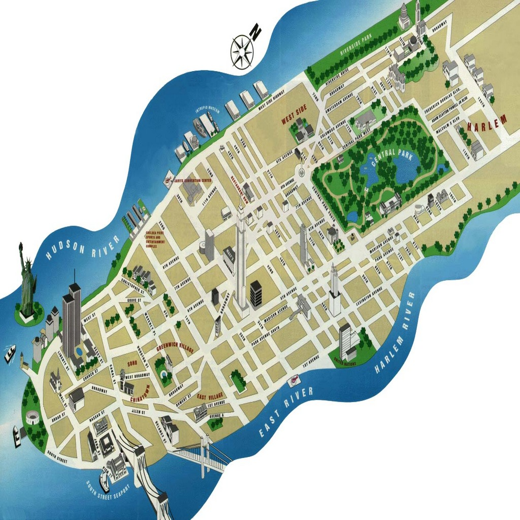 Map Of Manhattan Island Images Map Of Manhattan Manhattan - Manhattan island map