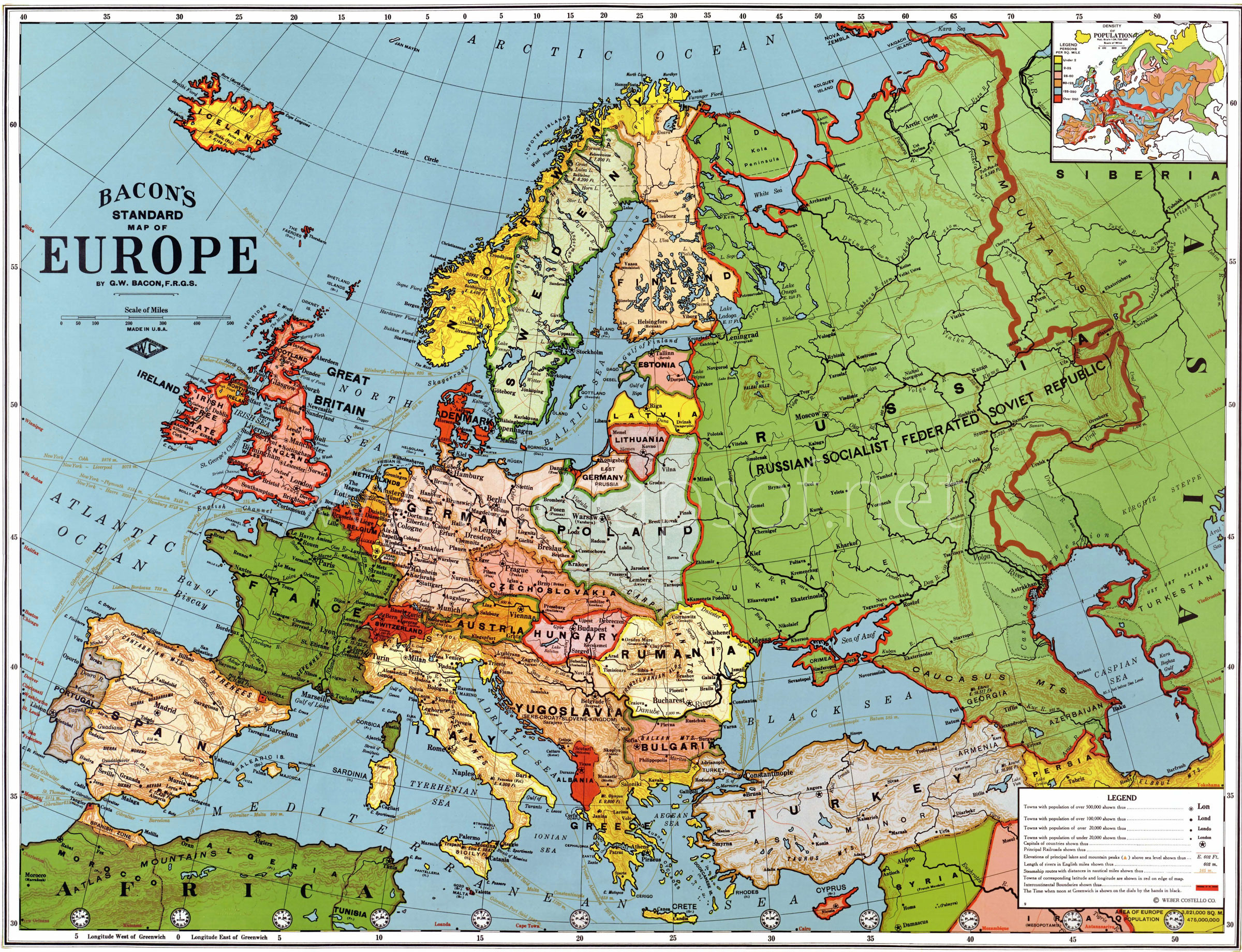 Old World Map Of Europe – Map of Europe