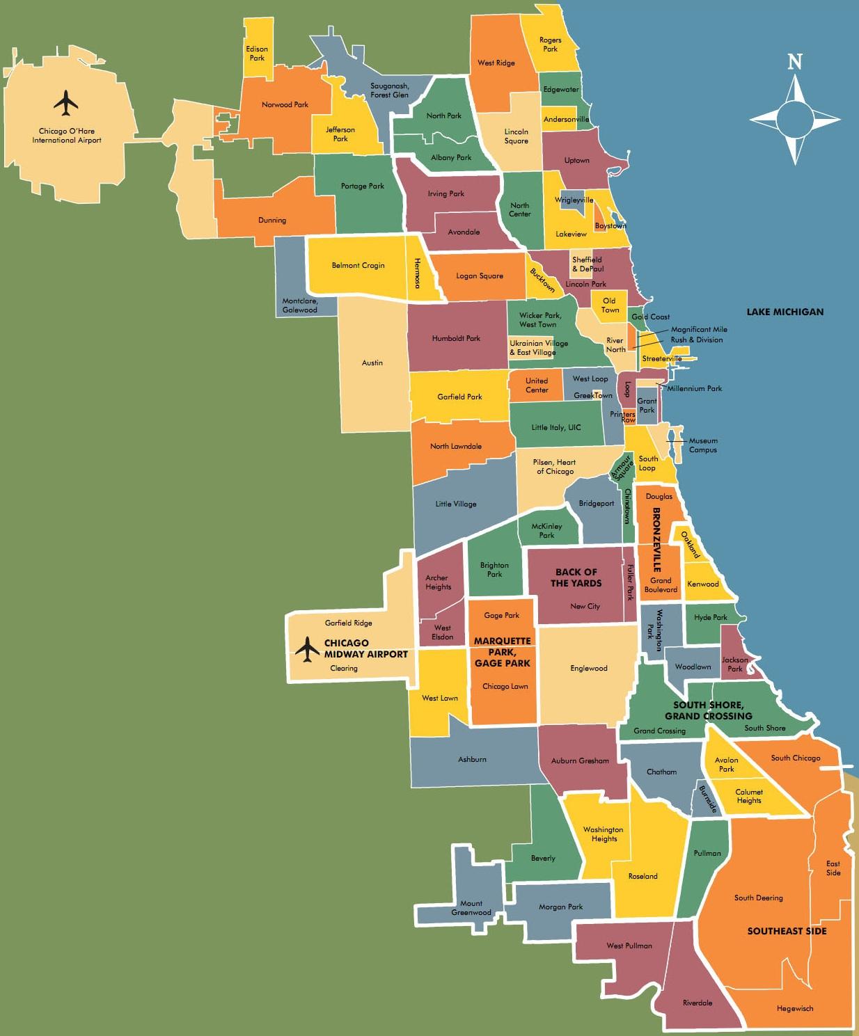 Cicago Neighborhood Map